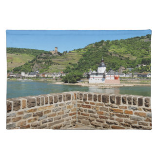Castle Palatinat count stone with Kaub Placemat
