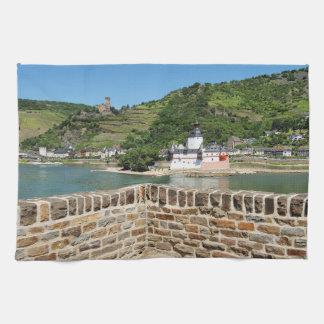 Castle Palatinat count stone with Kaub Tea Towel