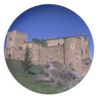 Castle Pedraza, Castile Leon, Spain Plate