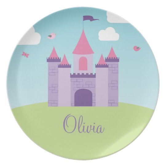 Castle Plate - Personalised with Child's Name