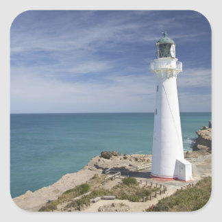 Castle Point Lighthouse, Castlepoint, Wairarapa, Square Sticker