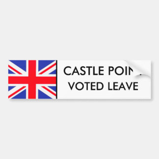 Castle Point Voted LeaCe Bumper Sticker