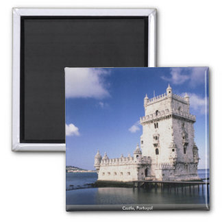 Castle, Portugal Square Magnet