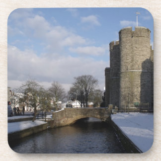 Castle River And Snow Photo Coasters