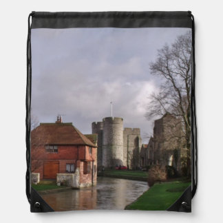 Castle River In January Drawstring Backpack