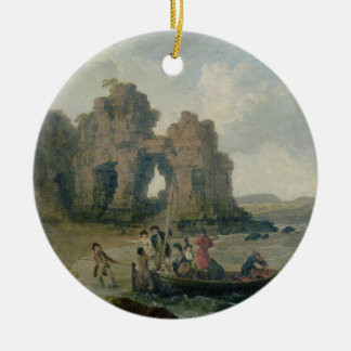 Castle Rock (Flatholm Island), Bristol Channel, 17 Christmas Ornament