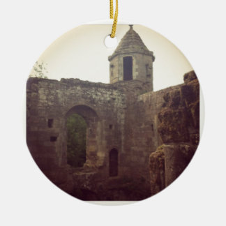 Castle Ruin Round Ceramic Decoration