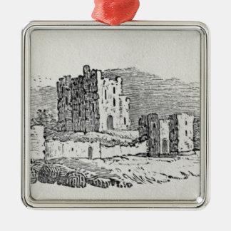 Castle Ruins Christmas Ornament