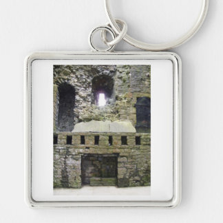 Castle ruins key ring