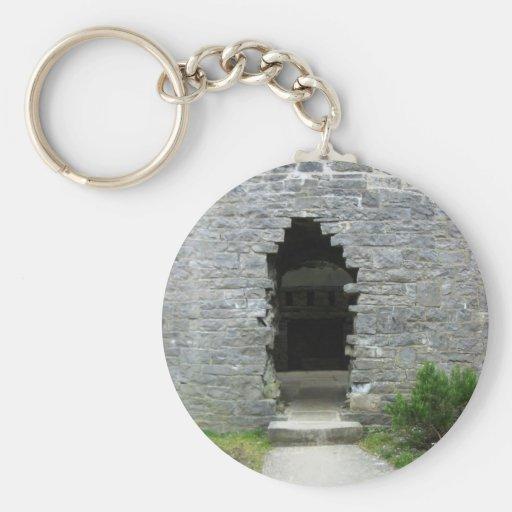Castle ruins key chain