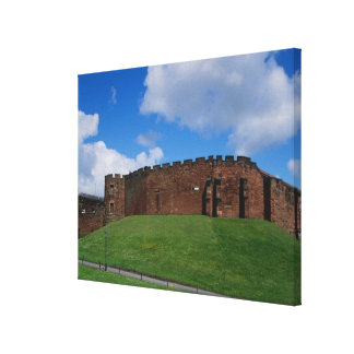 Castle showing half moon tower, Chester, Stretched Canvas Prints