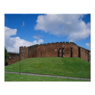 Castle showing half moon tower, Chester, Photo