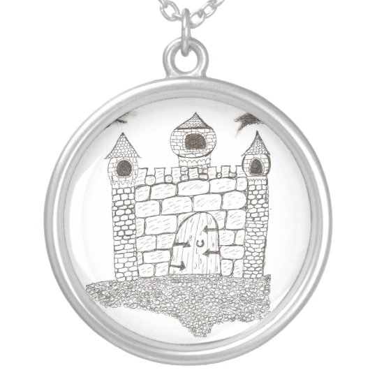 Castle Silver Plated Necklace