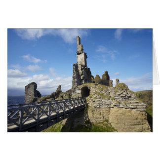 Castle Sinclair Girnigoe, Wick, Caithness, Greeting Card
