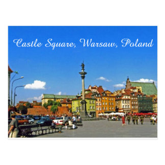 Castle Square, Warsaw, Poland Postcard