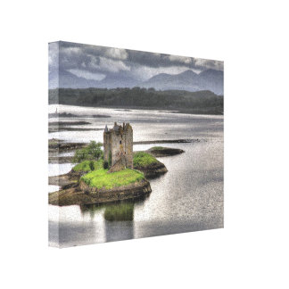 Castle Stalker Appin Argyll Scotland Stretched Canvas Print