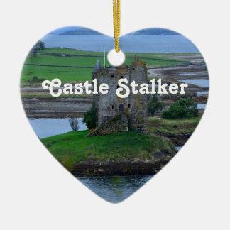 Castle Stalker Ceramic Heart Decoration