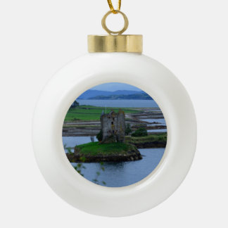 Castle Stalker in Scotland Ceramic Ball Decoration