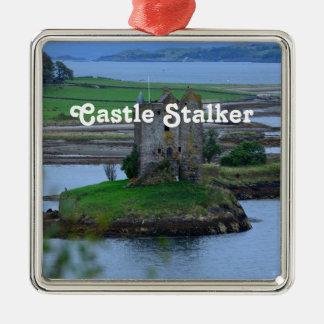 Castle Stalker Silver-Colored Square Decoration
