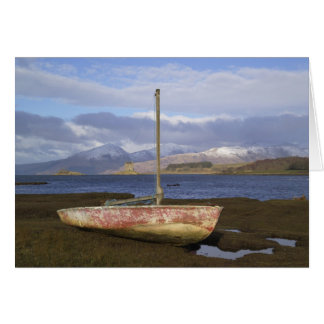 Castle Stalker with fishing boat in the Card