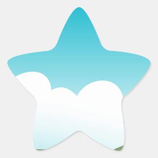 Castle Star Sticker