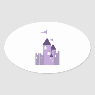 Castle Oval Stickers