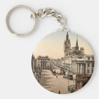 Castle Street, Aberdeen, Scotland Basic Round Button Key Ring