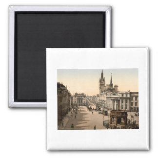 Castle Street, Aberdeen, Scotland Square Magnet