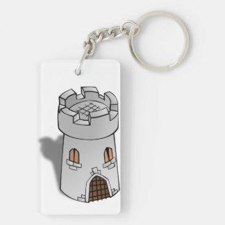 Castle Tower Key Chain