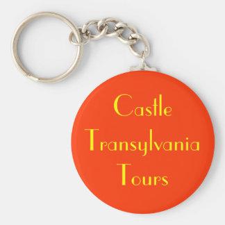Castle Transylvania Tours Basic Round Button Key Ring