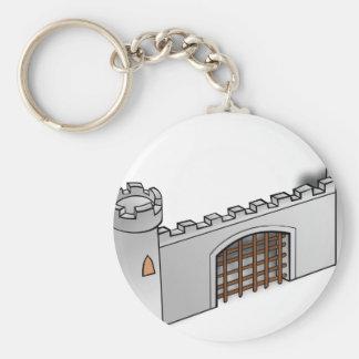 Castle Wall Key Chain