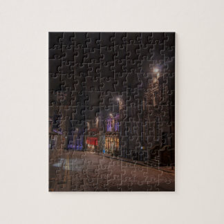 Castlehill Street Royal Mile at night Jigsaw Puzzle