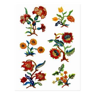 Castlemane Jacobean Embroidery Postcard