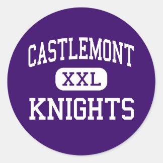 Castlemont - Knights - High - Oakland California Round Sticker