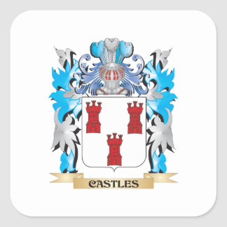 Castles Coat of Arms - Family Crest Stickers