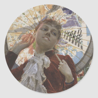 Castles in The Air by Anders Zorn Round Sticker