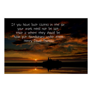 Castles in the air poster - Sunset and Thoreau