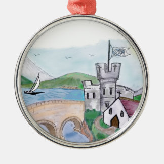 Castles - Traditional Canal Folk Art Christmas Ornament