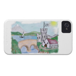 Castles - Traditional Canal Folk Art iPhone 4 Case-Mate Cases