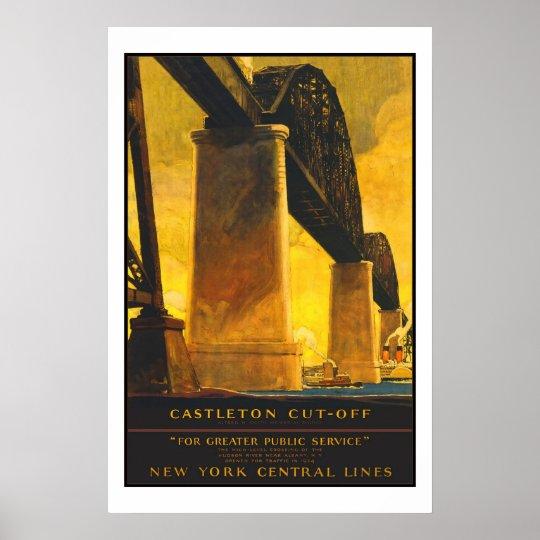Castleton New York Vintage Travel Poster