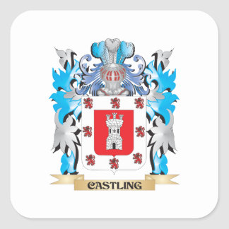 Castling Coat of Arms - Family Crest Sticker