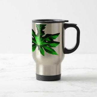 Castor leaf stainless steel travel mug