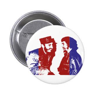 Castro and Che 6 Cm Round Badge