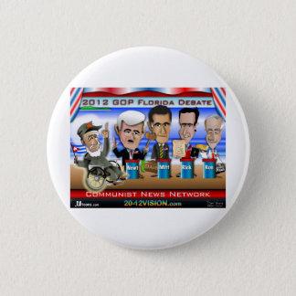 Castro Florida Debate 6 Cm Round Badge