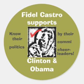 castrosealofapproval, Fidel Castro , supports, ... Round Stickers