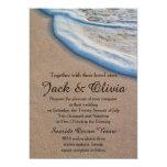 Casual Beach Sand Sea Foam Wedding 13 Cm X 18 Cm Invitation Card