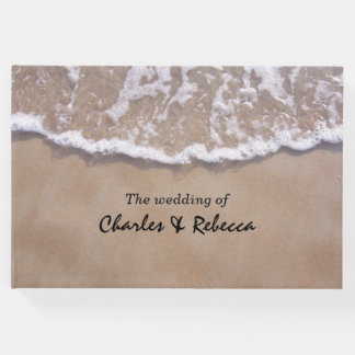 Casual Beach Theme Wedding Guest Book