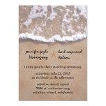 Casual Beach Theme Wedding Invitation 13 Cm X 18 Cm Invitation Card