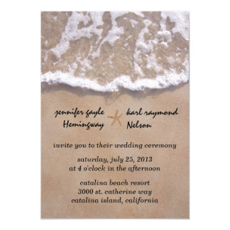Casual Beach Theme Wedding Invitation