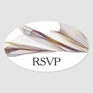 Casual Brown Sheer Fabric RSVP Stickers